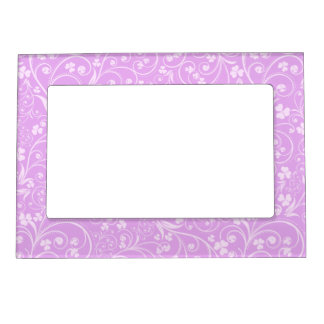 Pink on Pink Foliage Photo Frame Magnet