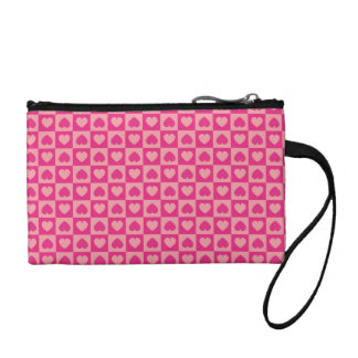 Pink on Pink Heart Design Coin Purse