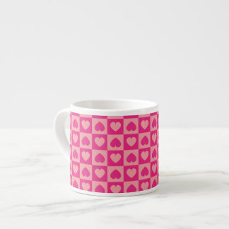 Pink on Pink Heart Design Espresso Cup