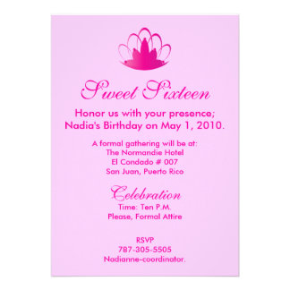 Pink On Pink  Sixteen -Customize. Personalized Announcement