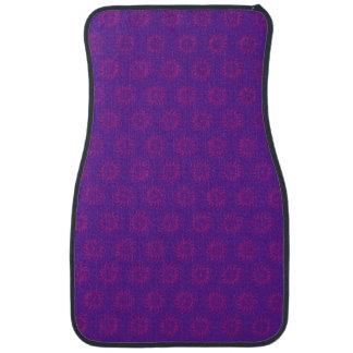 Pink on Purple Solar Sun Pattern Floor Mat