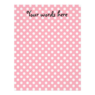 """Pink on white polka dots 8.5"""" x 11"""" flyer"""