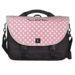 Pink on white polka dots laptop computer bag