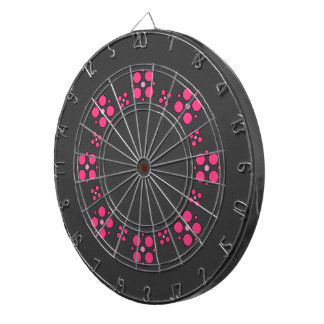 Pink one examined dartboard