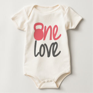 "Pink ""One Love"" Baby Bodysuit"