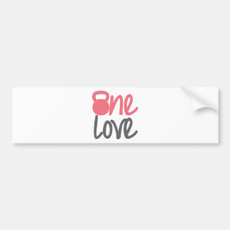 """Pink """"One Love"""" Car Bumper Sticker"""
