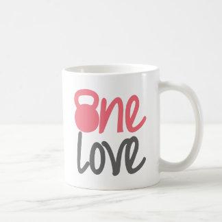 """Pink """"One Love"""" Coffee Mug"""