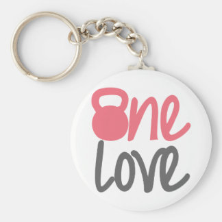 "Pink ""One Love"" Key Chain"