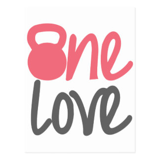 "Pink ""One Love"" Postcard"