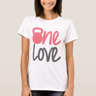 """Pink """"One Love"""" T-Shirt"""