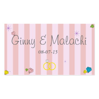 Pink Only Stripes Business Card Template