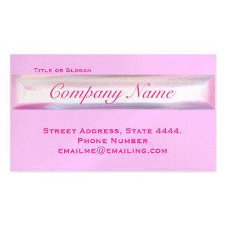 Pink Opal Pretty Professional Stationary Business Card
