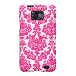 pink or blue damask samsung galaxy s cases