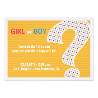 PINK OR BLUE REVEAL Invitation