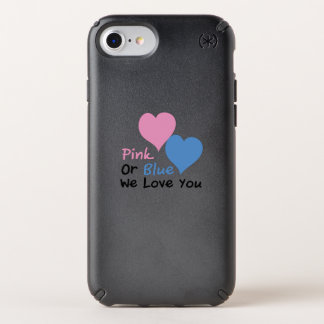 Pink Or Blue We Love You Baby Shower Gender Reveal Speck iPhone Case