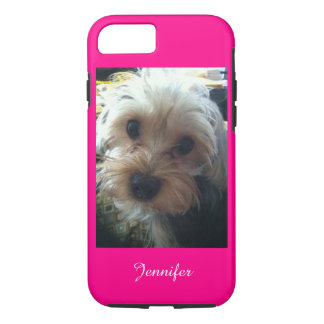 Pink or CHOOSE YOUR COLOR Yorkie Personalized iPhone 7 Case