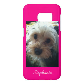 Pink or CHOOSE YOUR COLOR Yorkie Personalized S7 Samsung Galaxy S7 Case