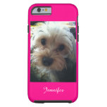 Pink or CHOOSE YOUR COLOR Yorkie Personalized Tough iPhone 6 Case