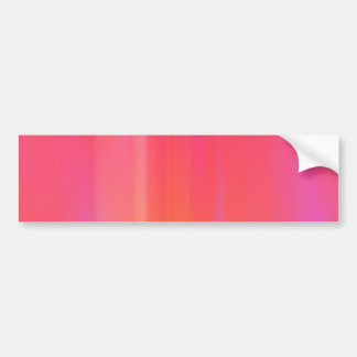 Pink & Orange Abstract Artwork: Bumper Sticker
