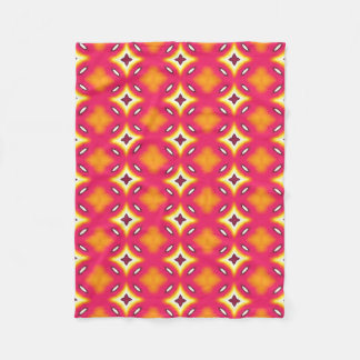 pink orange abstract floral pattern fleece blanket