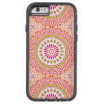 Pink, Orange and Green Kaleidoscope Flowers Design Tough Xtreme iPhone 6 Case