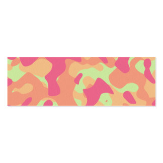 Pink Orange and Yellow Camouflage Bookmark Mini Business Card