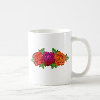 pink orange and yellow roses coffee mug