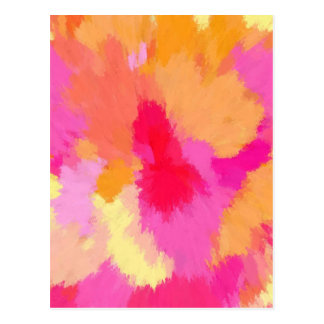 Pink, Orange and Yellow Watercolors Postcard