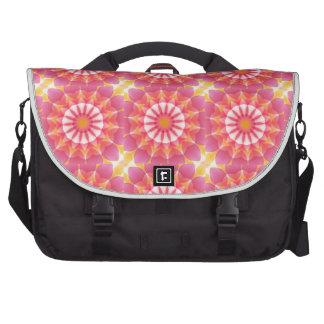 Pink Orange Blend Flower Kaleidoscope Computer Bag