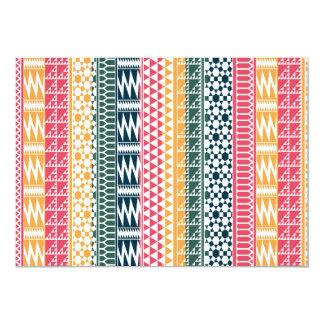 Pink Orange Blue Geo Aztec Tribal Print Pattern Card