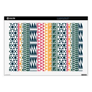 "Pink Orange Blue Geo Aztec Tribal Print Pattern Skins For 17"" Laptops"