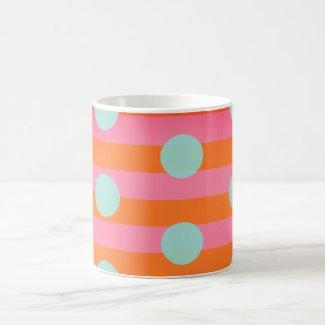 Pink Orange Blue   Ringer Combo Mug