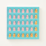Pink & Orange Candy Bears Notebook