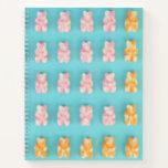 Pink & Orange Candy Bears Notebook
