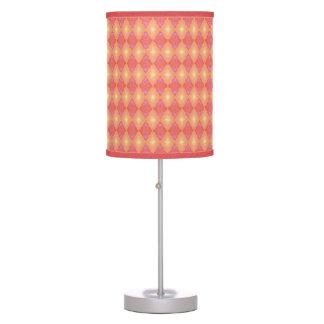 Pink & Orange Circus Diamonds Table Lamp