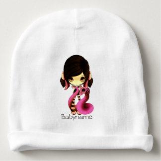 Pink & Orange Dragon Lady Personalized Baby Beanie