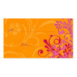 Pink & Orange Floral Wedding Place or Escort Cards Business Card Template