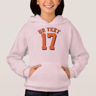 Pink & Orange Kids | Sports Jersey Design Hoodie