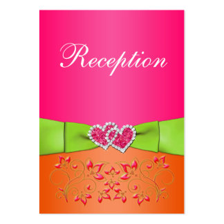 Pink, Orange, Lime Floral, Hearts Enclosure Card 2