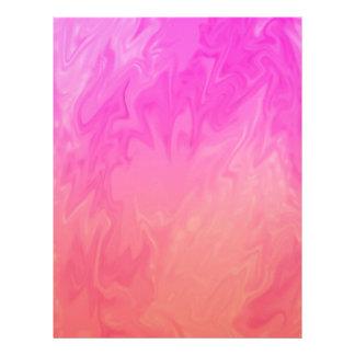 Pink Orange Marbled Design Letterhead
