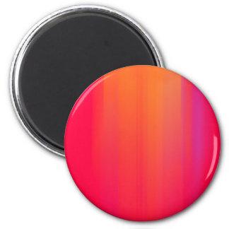 Pink & Orange Motion Blur: 2 Inch Round Magnet