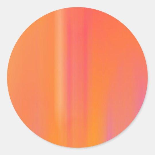 Pink & Orange Motion Blur: Classic Round Sticker