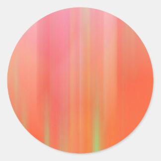Pink & Orange Motion Blur Classic Round Sticker