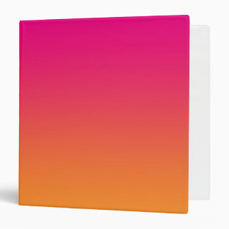 Pink & Orange Ombre 3 Ring Binder