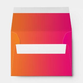 Pink & Orange Ombre A6 Envelope