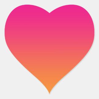 Pink & Orange Ombre Heart Sticker