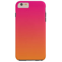 Pink & Orange Ombre Tough iPhone 6 Plus Case