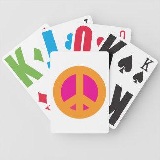 Pink & Orange Peace Playing Cards