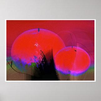 Pink Orange Pear1 Posters