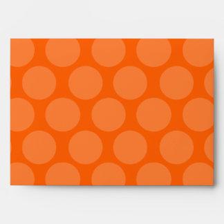 Pink Orange Polka Dot Envelope